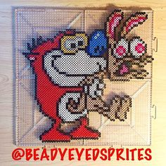 #Ren_&_Stimpy by beadyeyedsprites
