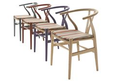Paul Smith upholsters Hans J. Wegner chairs in his signature stripes
