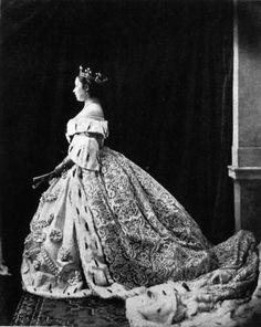 Queen Victoria of Prussia (Eldest child of Queen Victoria of UK) in her coronation gown, 1888