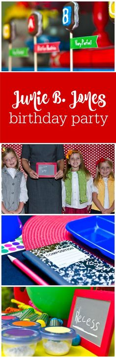 How to plan a Junie B. Jones birthday party or back to school party by The Party Teacher | http://thepartyteacher.com/2012/09/05/our-parties-junie-b-jones/