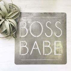 Boss Babe - Metal Sign from jessicandesigns