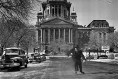 Sen. Peter Miller ice skating up Capitol Ave 1949. Courtesy of the State Journal-Register. Click the photo to read article
