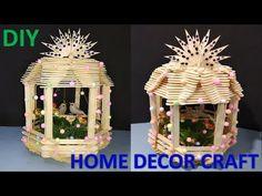 DIY Popsicle Sticks Toys How To Make Furniture - Easy Diy Crafts With Icecream Sticks Diy Crafts Coasters, Easy Diy Crafts, Diy Home Crafts, Decor Crafts, Crafts For Kids, Diy Decoration, Popsicle Stick Crafts House, Popsicle Sticks, Craft Stick Crafts