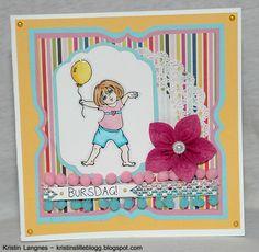 Kristins lille blogg: Bursdagskort