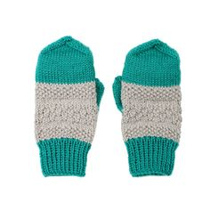 2 colours mittens