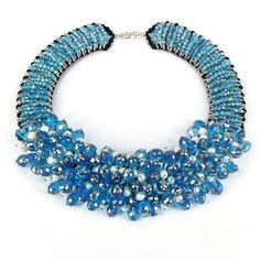@Overstock.com - Sparkling Blue Glamour Freshwater Pearls Beaded Necklace (Thailand) - Sparkling crystals and luminous pearls evoke a serene blue sea. This handcrafted necklace by A-shi makes all the statement.  http://www.overstock.com/Worldstock-Fair-Trade/Sparkling-Blue-Glamour-Freshwater-Pearls-Beaded-Necklace-Thailand/7717168/product.html?CID=214117 $86.99