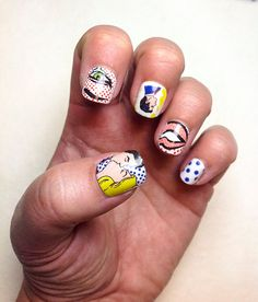 Cartoon Nail Decals by IHeartNailArt on Etsy, $7.00