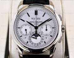 European Watch Company: Perfect condition Patek Philippe Perpetual Calendar Chronograph 18K White Gold now #forsale #patek #patekphilippe #europeanwatchco