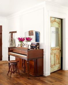 Paint and Patina on Door | Decorating with Vintage Doors | Home of Coley Arnold featured in Country Living magazine