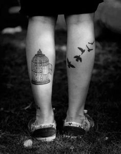 Been wanting a birdcage tattoo lately. I blame Bioshock Infinite for that. Tattoos Para Casais, Body Art Tattoos, I Tattoo, Tatoos, Tattoo Legs, Tattoo Girls, Sexy Tattoos For Girls, Photo Main, Freedom Tattoos