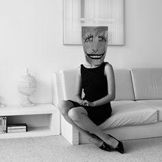 Funny paper bag masks