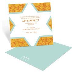 Contemporary Bat Mitzvah Invitations -- Flowing Pattern | Pear Tree Greetings