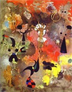 """Quadro de bom dia: """"Pintura (No. 5)"""", Joan Miró."""
