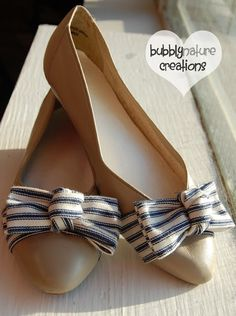 DIY Bow Tie Flats with tutorial
