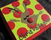 Hand print reindeer - this would be cute to do each year as a keepsake!