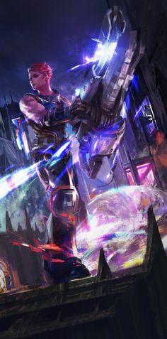 ArtStation - Four pieces of Fan-art frome different games, Mazert Young - More at https://pinterest.com/supergirlsart/ #zarya #overwatch #fanart