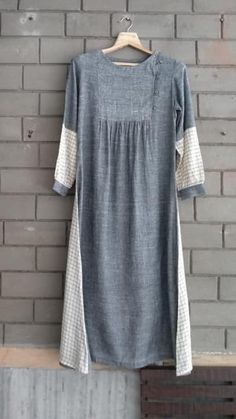 28 ideas dress indian style sleeve for 2019 Tunic Designs, Designs For Dresses, Kurta Designs, Stitching Dresses, Dress Indian Style, Casual Outfits, Fashion Outfits, Western Dresses, Linen Dresses