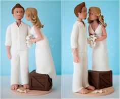 Beach Wedding Couple by Rouvelee's Creations, via Flickr