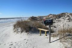 Bird Island Sunset Beach NC - last westward walkover at 40th Street Sunset Beach - 1200 acres uninhabited preserve