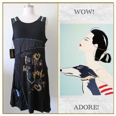 ✨Adore Tunic✨ ✨Cute , stylish tunic dress with eclectic print on the front!✨ Adore Dresses Asymmetrical
