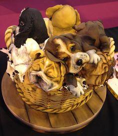 NEC 2013 Dog Cakes, Cupcake Cakes, Cupcakes, Doggie Cake, Cake International, 3d Dog, Animal Cakes, Awesome Cakes, Cake Art