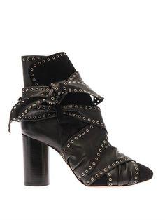 Aubrey leather ankle boots | Isabel Marant | MATCHESFASHION.COM