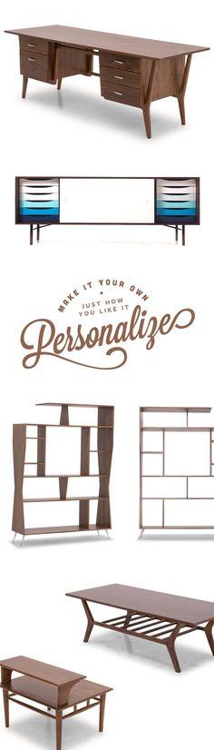 Personalized, Handmade wood furniture by Joybird
