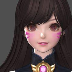 ArtStation - mina kim 3d Model Character, Female Character Design, Character Modeling, Character Design Inspiration, Character Concept, Character Art, Manga Anime, Anime Hair, 3d Face Model