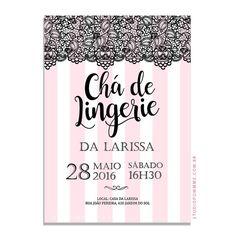 Artes para convite de chá de lingerie para imprimir
