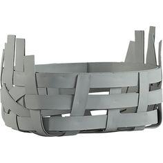 digit small silver grey basket  | CB2