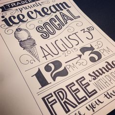 Ice Cream Social Flyer |
