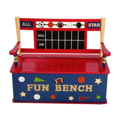Fun baseball themed bench! Perfect for your little Syracuse Chief's fans bedroom!