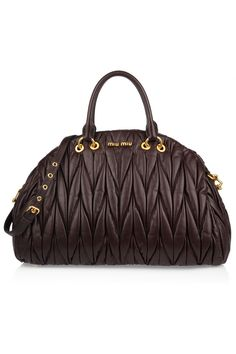 Miu Miu | Matelassé leather tote | NET-A-PORTER.COM: Love the shape