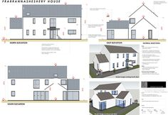 New homes and house extension projects by Edge Architecture - CORK ARCHITECTS including work for Carbery, OPW, Coilte Model House Plan, Rural House, Architect House, House Extensions, Types Of Houses, House Floor Plans, Exterior Design, Home Projects, Modern Farmhouse