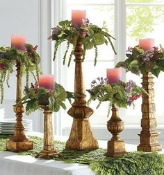 Distinctive Dover Antique Gold Candlesticks are so versatile that you'll use them year round.