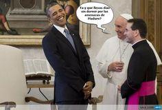 HUMOR: Reacción de Obama en el momento que El Papa le pregunta sobre las amenazas de Maduro.