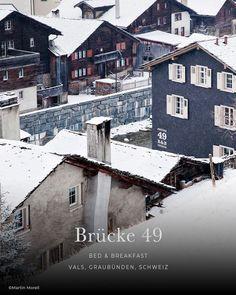 die schönsten Hotels in den Alpen: BRÜCKE 49, Bed