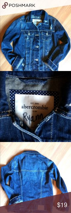 Abercrombie jean jacket This jacket is Store perfect.   Hardly worn.  It does have child name on jackets inside label but other than that you won't find a better condition one.   Size is Youth Large. Abercombie Kids Jackets & Coats Jean Jackets