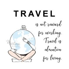 Travel quote fashion illustration