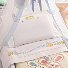This domain may be for sale! Baby Sheets, Baby Bedding Sets, Crib Sets, Baby Embroidery, Embroidery Fashion, Embroidery Designs, Bebe Baby, Baby Love, Teddy Bear Nursery