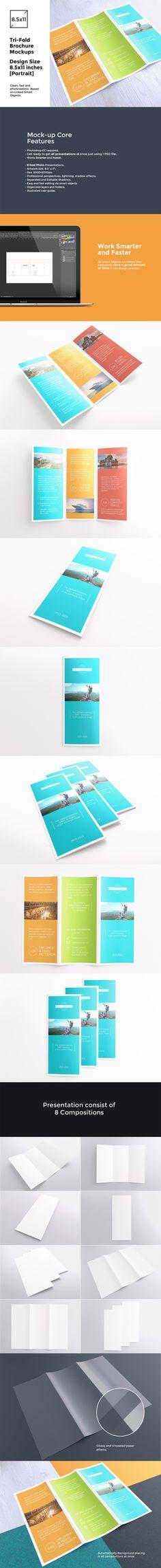 Tri-Fold Brochure / Flyer Mock-up's by itembridge creative store on @creativemarket