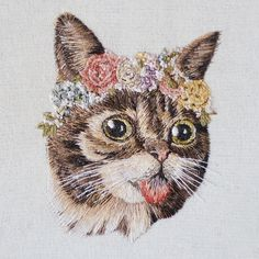 Amazingly Realistic Custom Pet and Wildlife Portraits Embroidered by Hand