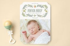Sweet Little Ladybug Birth Announcements by Melani... | Minted