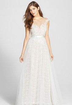Farrah tulle and lace wedding dress by Watters.