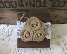 i love this!!!! Ring Bearer Pillow  Ring Bearer Wood Box  by TheShabbyChicWedding, $40.00