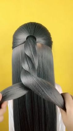 Hair Tutorials For Medium Hair, Medium Hair Styles, Long Hair Styles, Hair Tips Video, Hair Videos, Updo Hairstyles Tutorials, Braided Hairstyles, Haircuts Straight Hair, Hairdo For Long Hair
