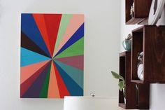 DIY Canvas Pinwheel Wall Art