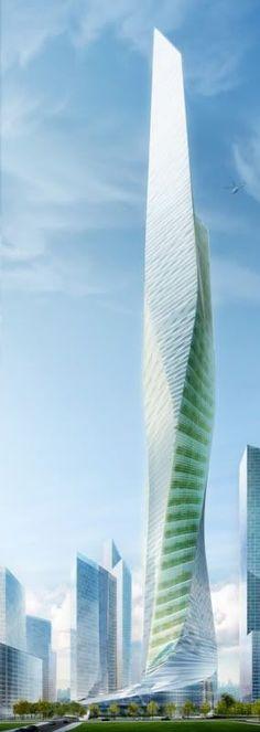 Dream Hub Yongsan Archipelago Main Tower, Seoul, Sotuh Korea by Studio Daniel Libeskind :: 136 floors, height 665m