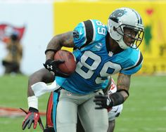 : Wide receiver Steve Smith #89 of the Carolina Panthers rushes upfield against the Tampa Bay Buccaneers at Raymond James Stadium September 9, 2012 in Tampa, Florida. (Photo by Al Messerschmidt/Getty Images)