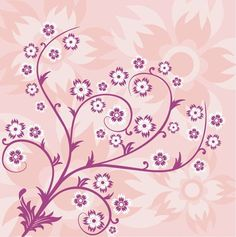 Pink Floral | Abstract Floral Pink Background | Free Vector Graphics | All Free Web ...